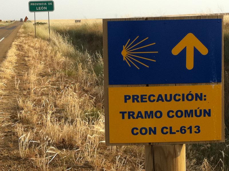 señal camino de santiago y leon
