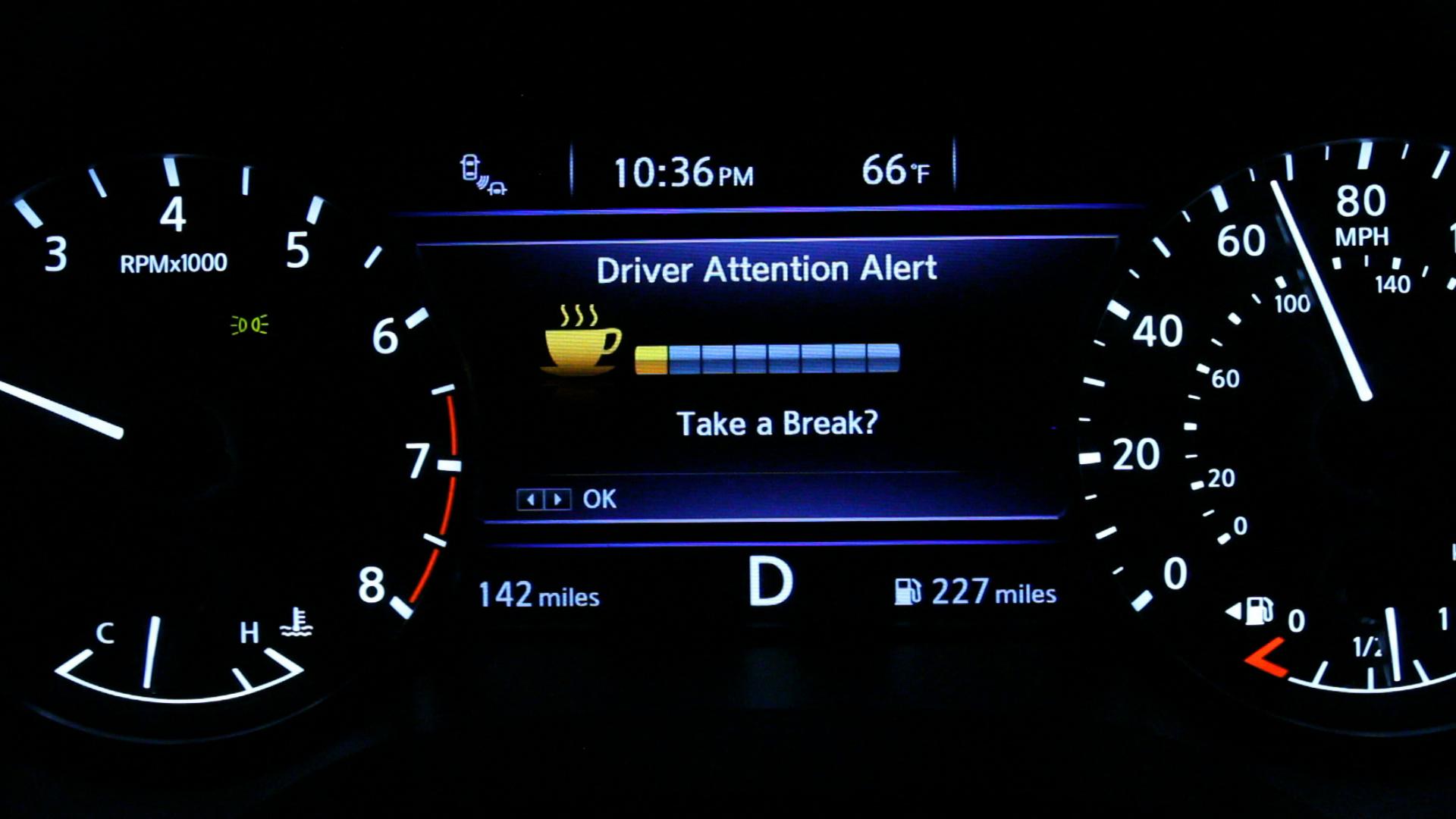Sistema de alerta de cansancio de Nissan