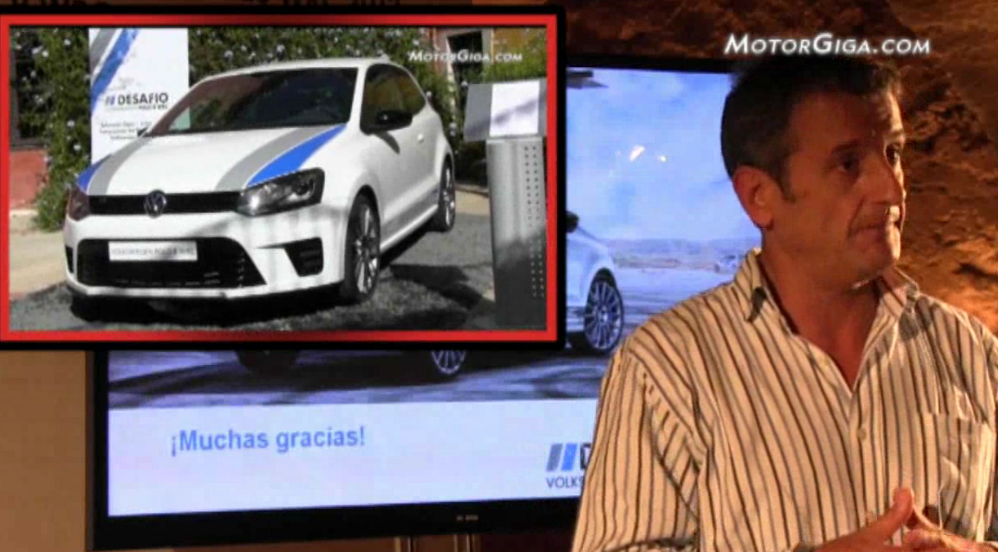 Luis Moya hablando del VW Polo WRC