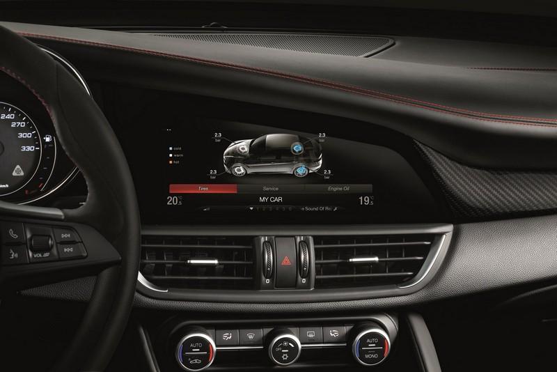 Alfa Romeo Giulia Quadrifoglio 2016, foto interior