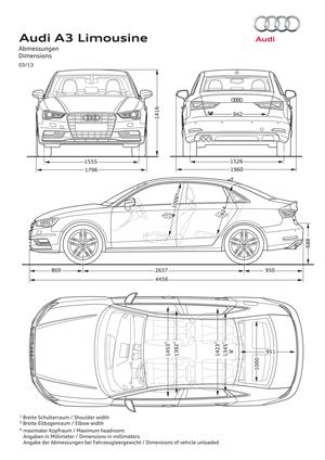 Foto Tecnicas Audi A3 Sedan 2013