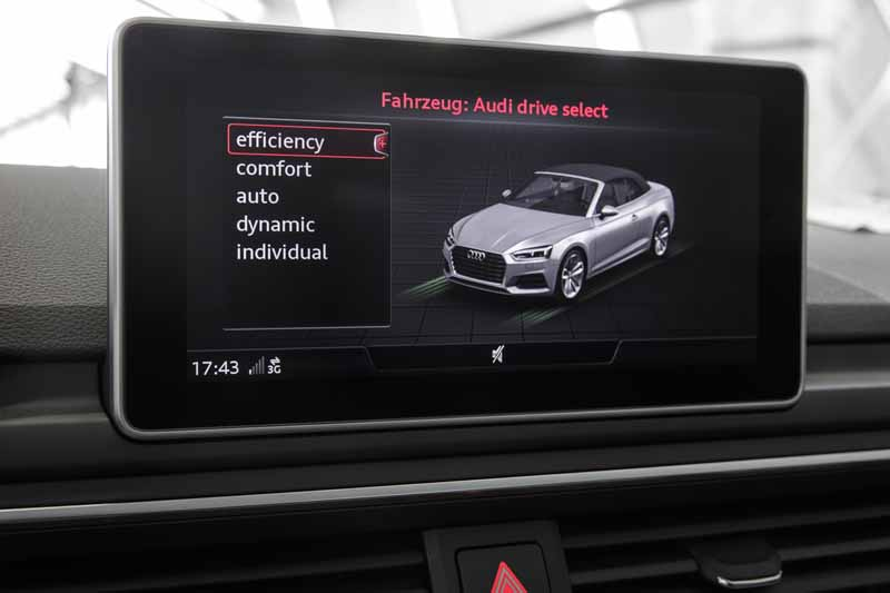 Audi A5 Cabrio 2017, foto pantalla salpicadero