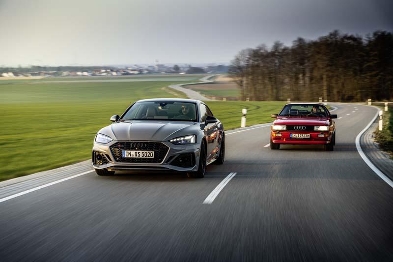 Foto Audi RS5 y Audi quattro