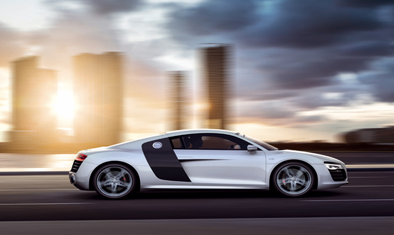 Foto Lateral Audi R8 Cupe 2012