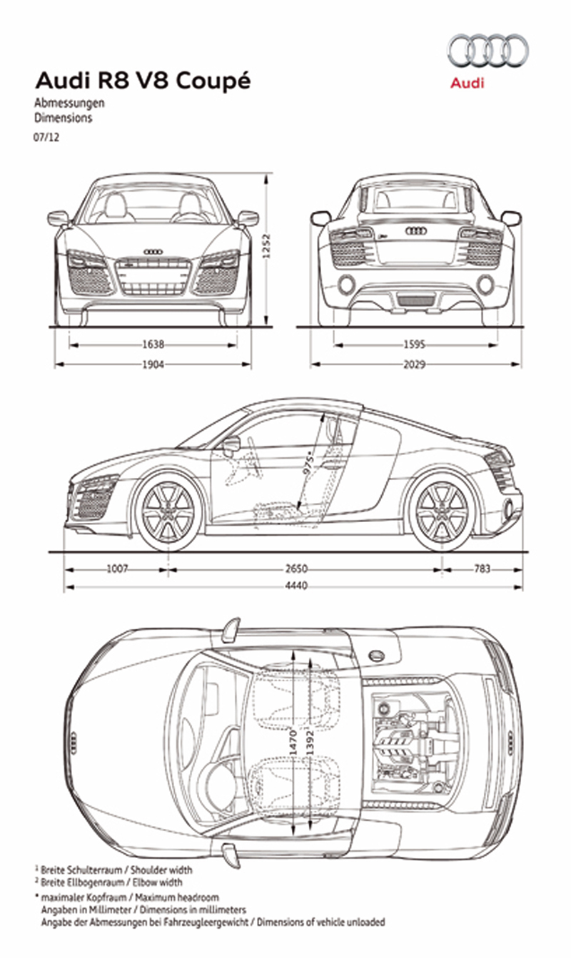 Foto Tecnicas Audi R8 Cupe 2012