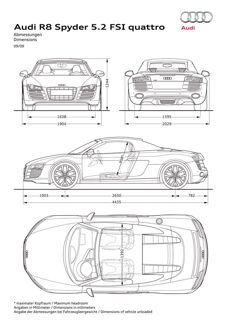 Foto Tecnicas Audi R8 Descapotable 2009