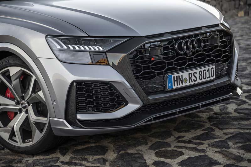 Audi RS Q8, foto rejilla frontal