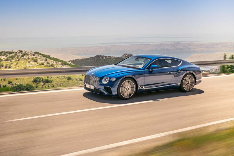 Bentley Continental GT 2017, foto delantera