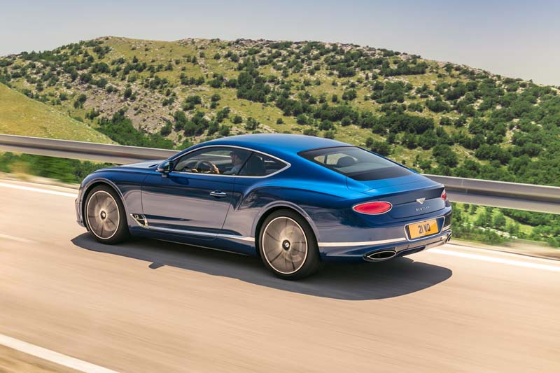 Bentley Continental GT 2017, foto trasera