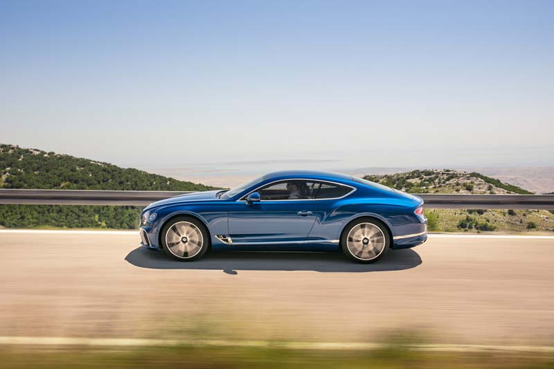 Bentley Continental GT 2017, foto lateral