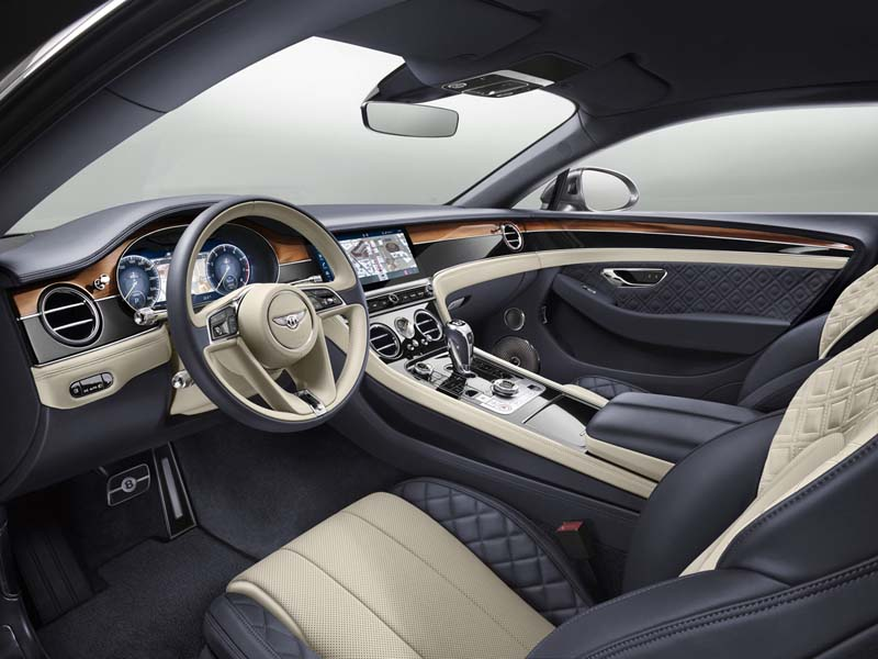 Bentley Continental GT 2017, foto interior