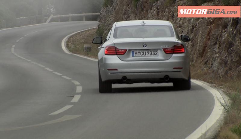 BMW 435i en carretera virada