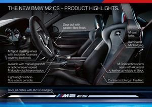 galeria de fotos bmw m2-cs 2020 - interiores
