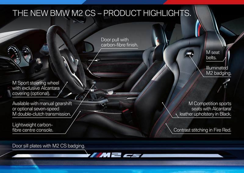 Foto Interiores Bmw M2 Cs Cupe 2020