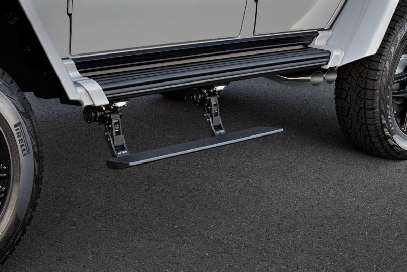 Estribos laterales en el Brabus Adventure 550 4x4
