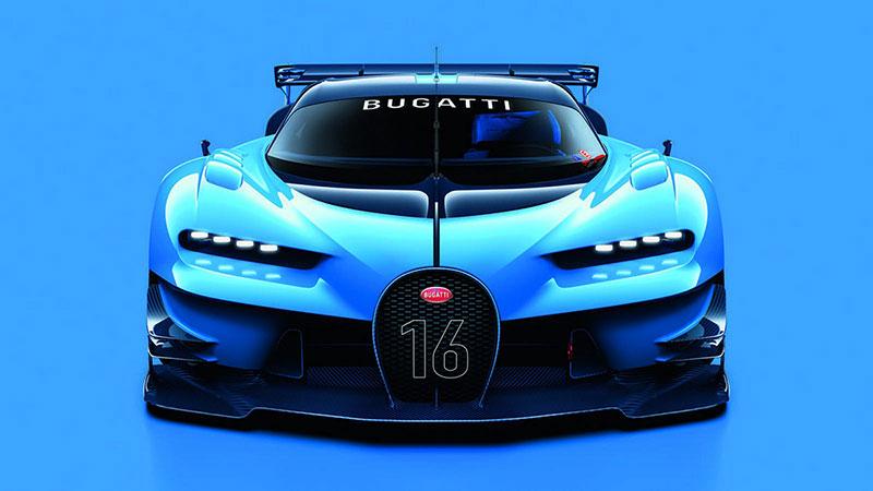 Bugatti Vision Gran Turismo frontal en forma de herradura