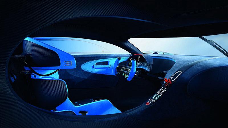 Interior del Bugatti Vision Gran Turismo