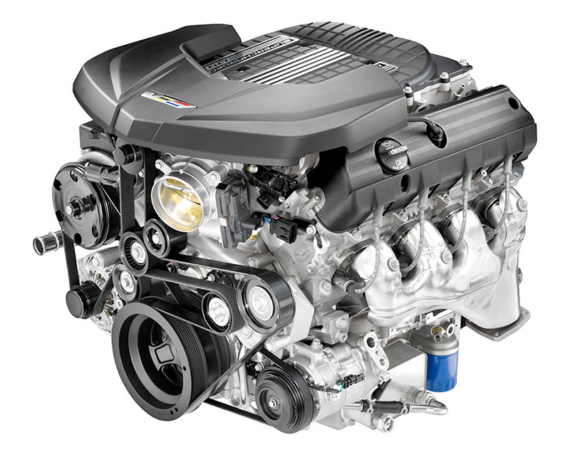 Motor V8 sobrealimentado del Cadillac CTS-V