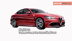 Foto Aluminio En Partes De Alfa Romeo Giulia Diccionario Peso-seguridad
