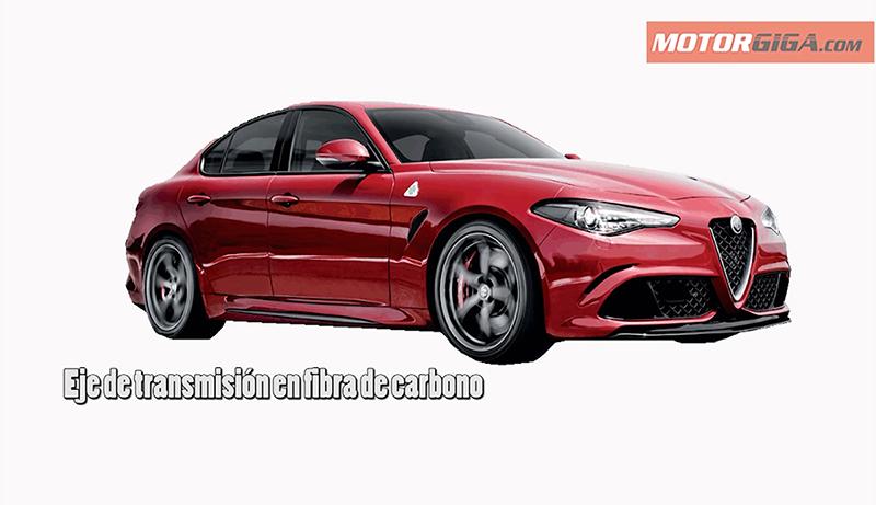 Eje de transmisión de carbono en el nuevo Alfa Romeo Giulia