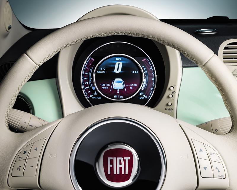 Foto Detalles Fiat 500 Dos Volumenes 2014