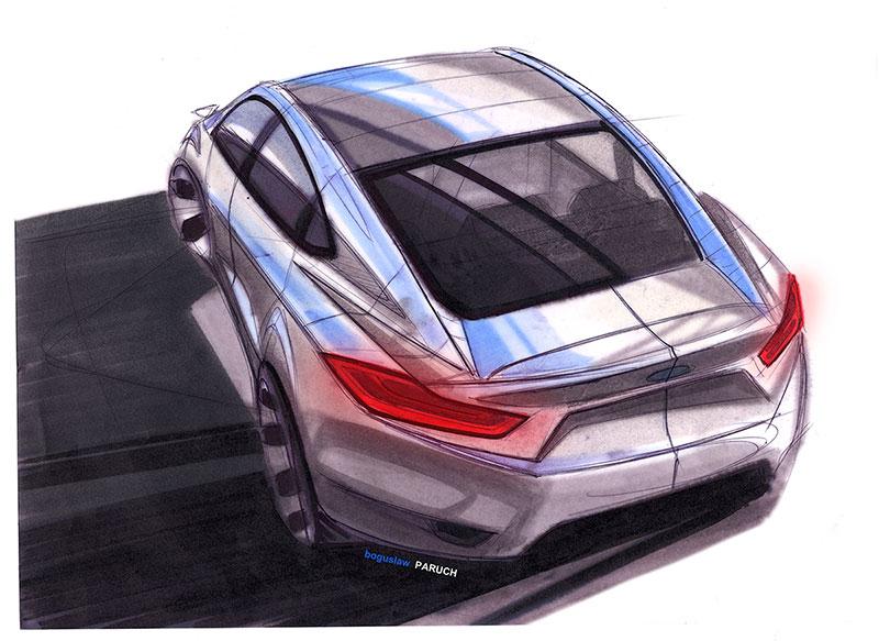 Dibujo Ford Mondeo 2015