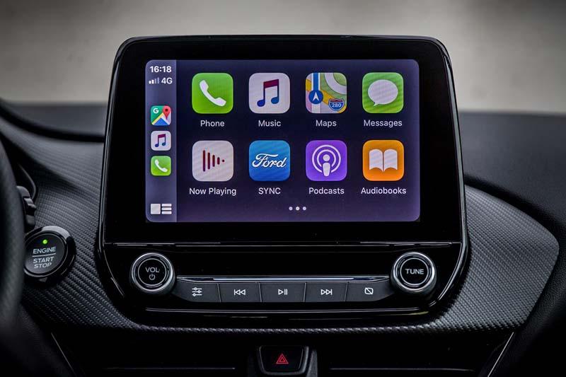 Ford Puma 2020, foto pantalla del salpicadero