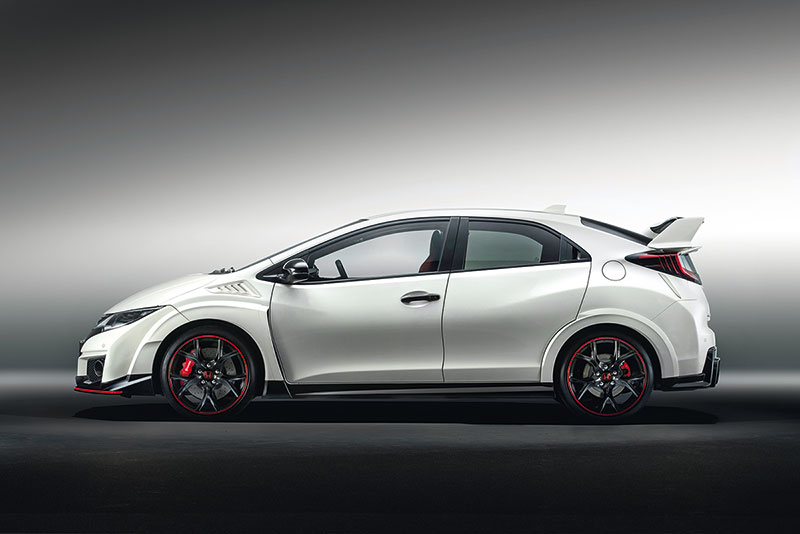 Honda Civic Type R de perfil