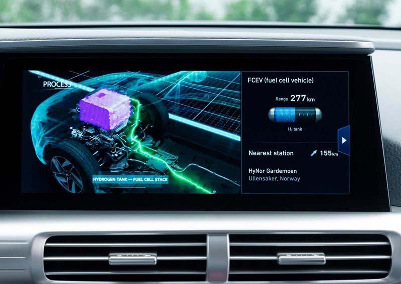 Hyundai Nexo 2018, foto pantalla salpicadero