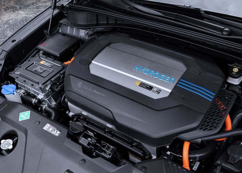 Hyundai Nexo 2018, foto pila de combustible
