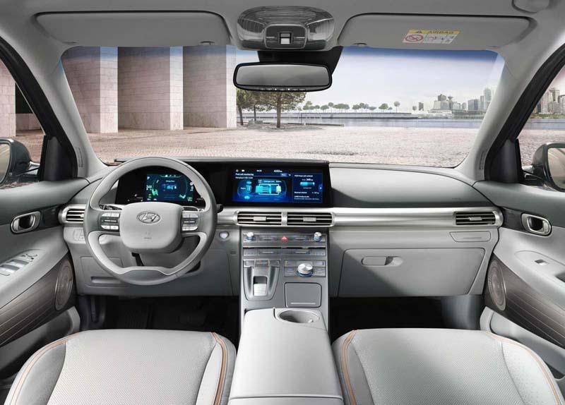 Hyundai Nexo 2018, foto salpicadero
