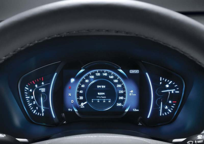 Hyundai Santa Fe 2018, foto cuadro de mandos