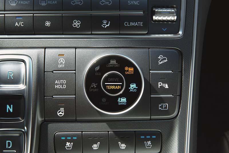 Hyundai Santa Fe PHEV 2021, foto perfiles de conducción