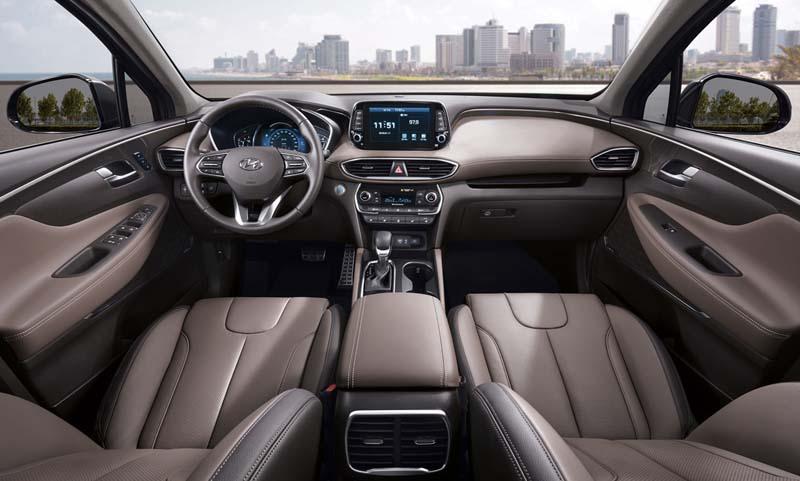 Hyundai Santa Fe 2018, foto salpicadero