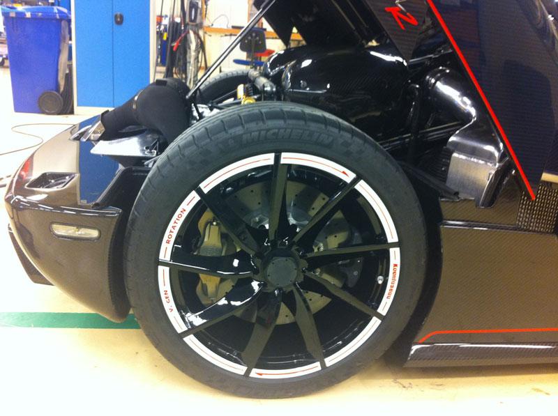 Neumáticos Michelin en el Koenigsegg Agera