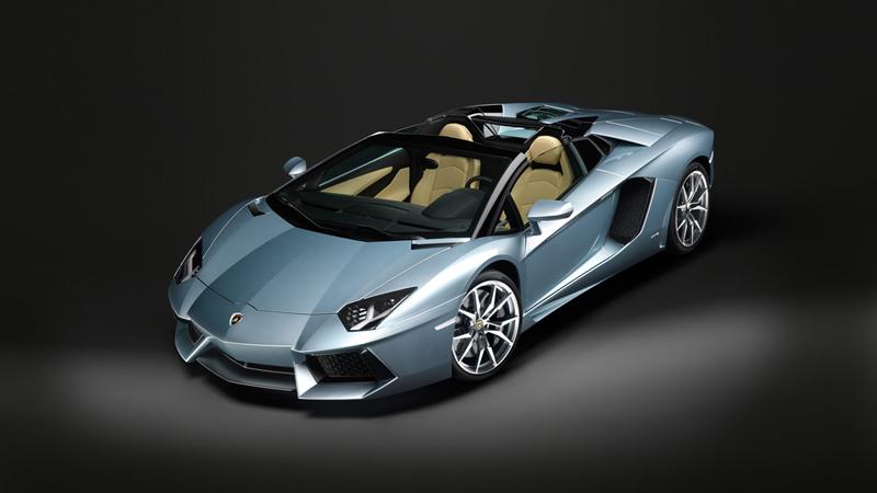 Foto Perfil Lamborghini Aventador Roadster Descapotable 2012