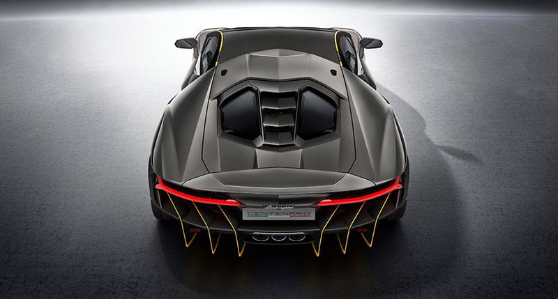 Foto Trasera Lamborghini Centenario Cupe 2016