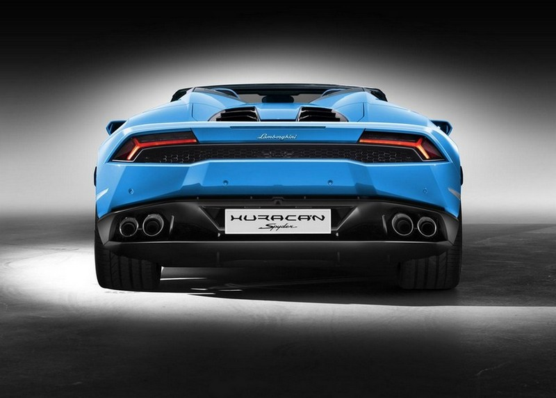 Foto Trasera Lamborghini Huracan Spyder Descapotable 2016