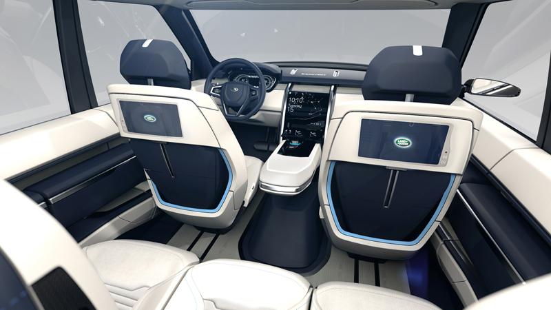 Foto Interior Land Rover Discovery Vision Concept Prototipo 2014
