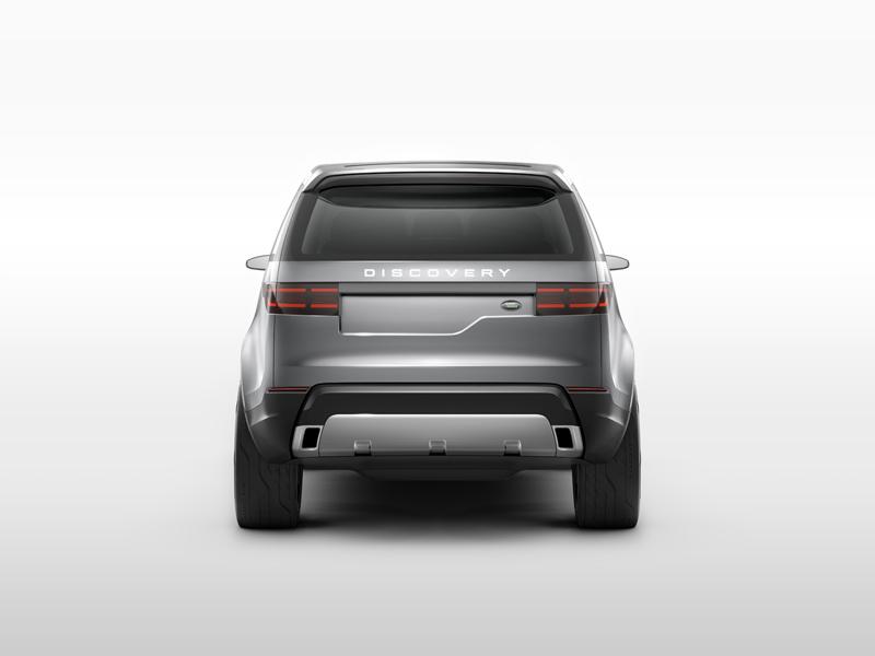 Foto Trasera Land Rover Discovery Vision Concept Prototipo 2014