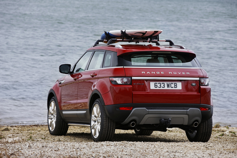 Range Rover Evoque, plazas posteriores y maletero