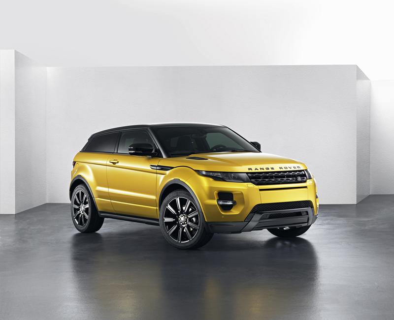 Range Rover Evoque Sicilian Yellow en el Salón de Barcelona 2013