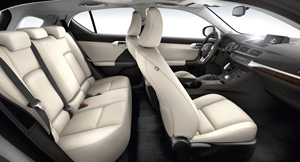 Lexus CT200H, análisis plazas posteriores y maletero