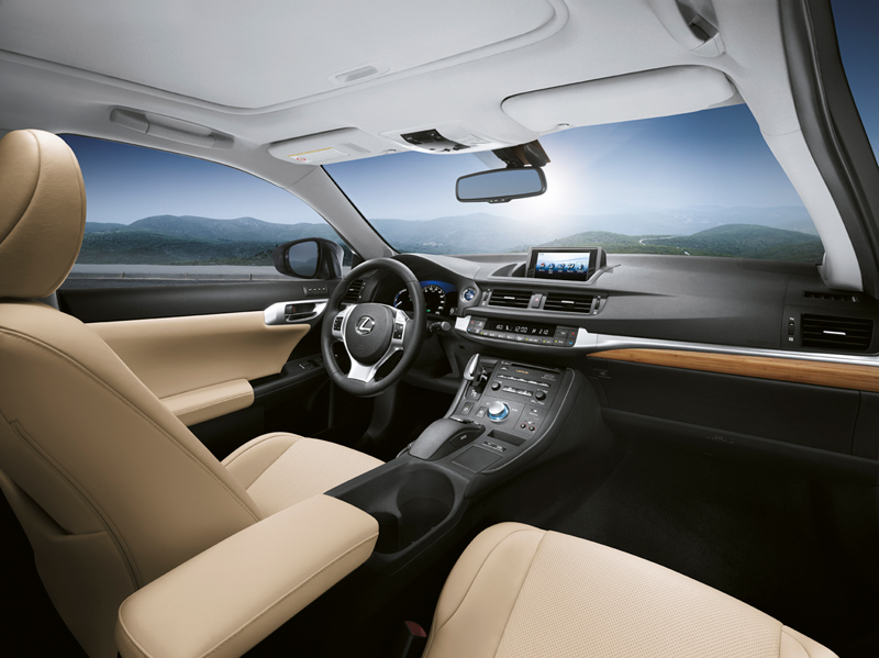 Interior del Lexus CT200h