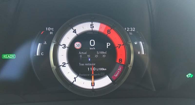 Lexus ES 300h, foto cuadro de mandos