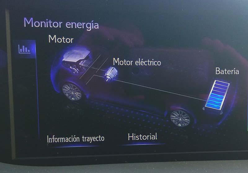 Lexus ES 300h, foto monitor de energía
