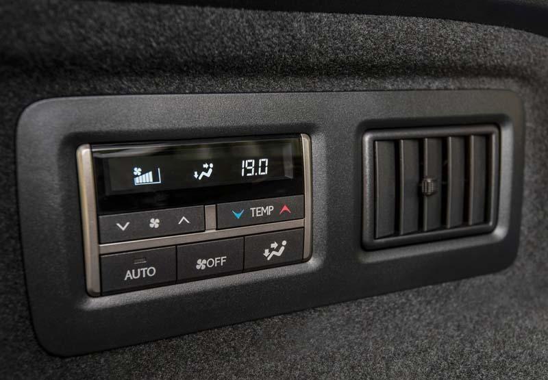 Lexus RX 450h L, foto climatizador tercera fila