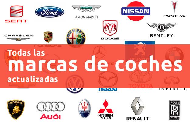 Marcas de coches. Información de cada marca: precios, vídeos, fotos
