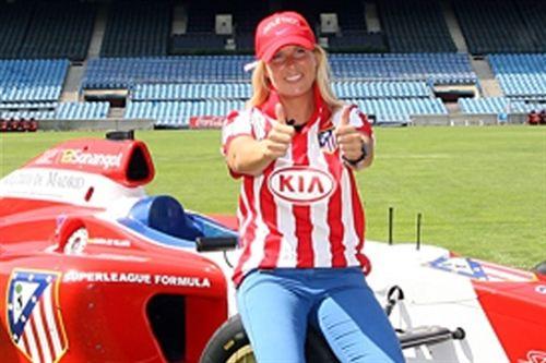María en su etapa de Superleague Fórmula