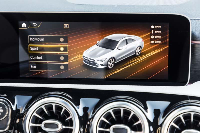Mercedes CLA Coupé 2019, foto programas de conducción